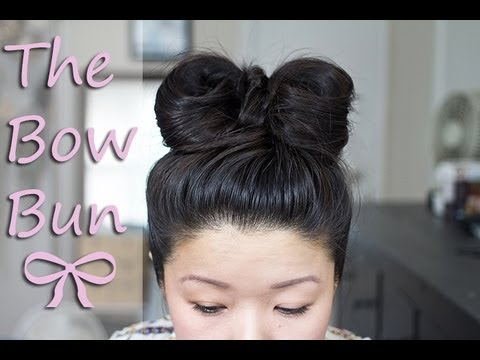 Simple Bow Bun Tutorial Youtube