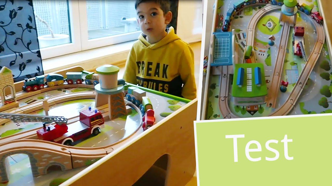 Spieltisch Eisenbahn test everearth spieltisch für autos und eisenbahnen babyartikel