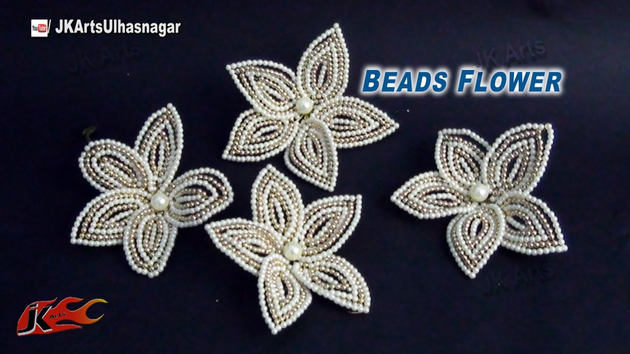 Diy Pearl And Beads Flower For Trousseau Packing How To