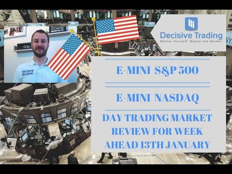 E-Mini S&P500 and E-Mini NASDAQ Day Trading Market Review 13th January