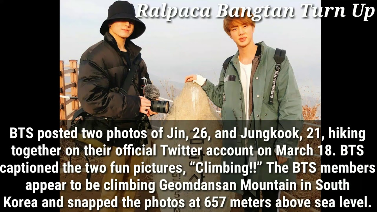 BTS Members Jin & Jungkook Went Mountain Climbing💜