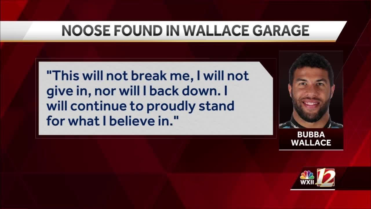 Bubba Wallace: A noose was found in racing driver's garage stall ...