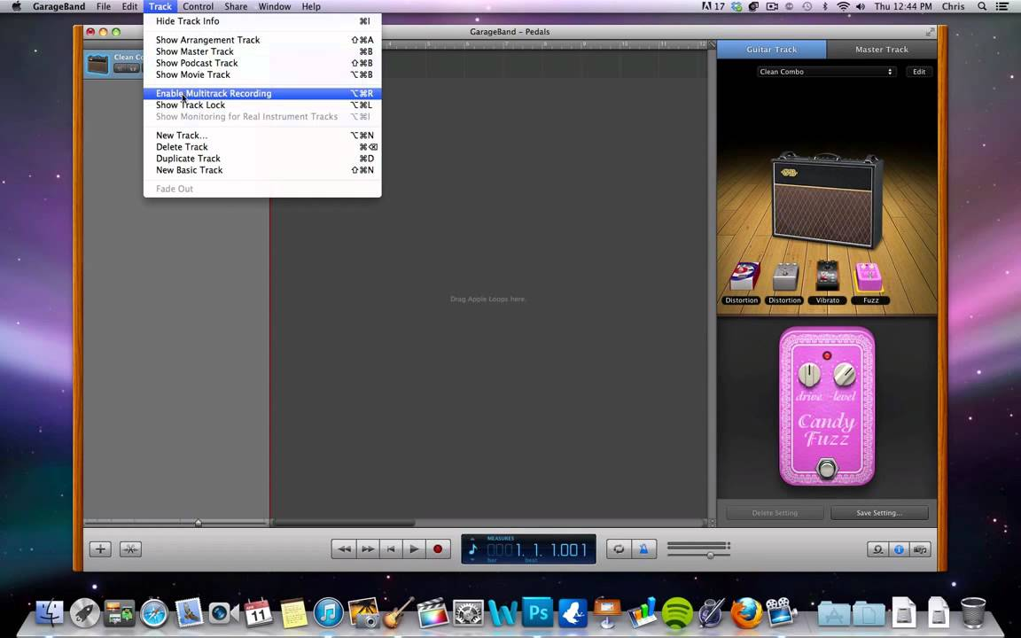 how to record guitar tracks and add pedal effects using garageband youtube. Black Bedroom Furniture Sets. Home Design Ideas