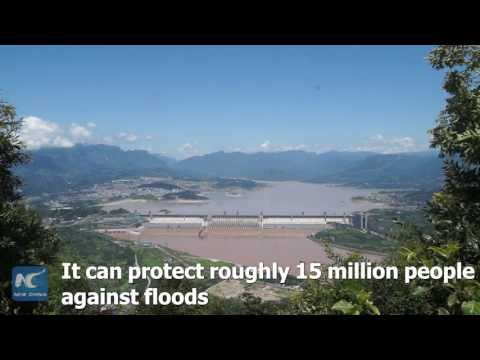 Aerial view: magnificant Three Gorges Dam