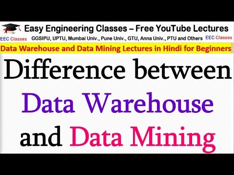 Difference Between Data Warehouse And Data Mining - DWDM Lectures