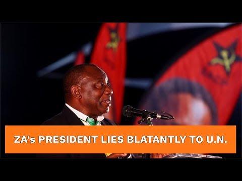 SA President Cyril Ramaphosa LIES to UN about FARM MURDERS