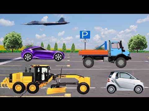 Учим Виды Транспорта - 2 часть - Мультфильм Игра для малышей