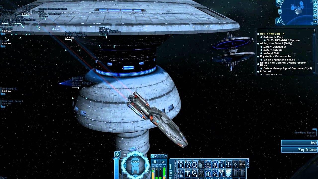 Star Trek Online: New Earthdock Station & Warp-Nacelle moving
