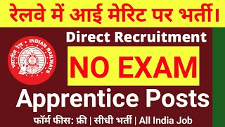12th Pass or ITI Jobs  in Central Railway Jobs 2019 // 413 Apprentice Posts /  Railway Jobs
