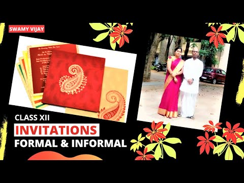 INVITATIONS  FORMAL INVITATIONS  INFORMAL INVITATIONS  EXPLANATION  SWAMY VIJAY