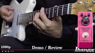 ibanez mini analog delay demo review