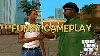 "WHY CJ LOOK LIKE THAT!?!? ( FUNNY ""GTA SAN ANDREAS"" GAMEPLAY #1)"