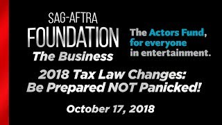 The Business: 2018 Tax Law Changes - Be Prepared NOT Panicked!