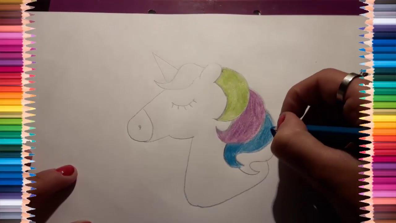 Dibuja y Colorea Unicornio arcoíris   Dibujos Para Niños – Dibujando desafío