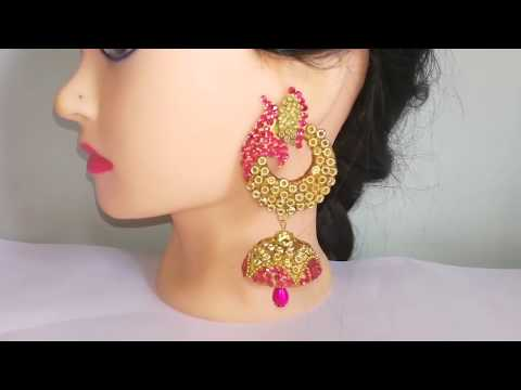Party wear jhumkas making at home