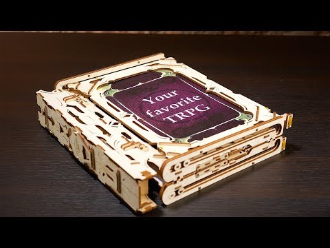 Game Master's Screen | Mechanical Wooden Device for Tabletop Games | Ugears Games Collection