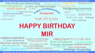 Mir   Languages Idiomas - Happy Birthday