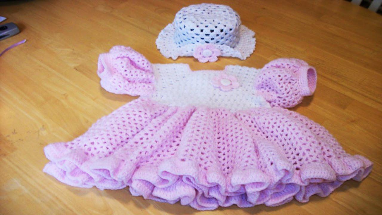 Vestidos bebe tejidos en crochet ganchillo parte1 dis for Disenos de ganchillo