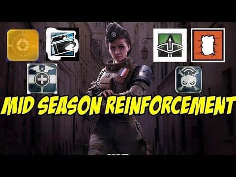 Rainbow Six Siege Mid Season Reinforcement Glaz Thermal vision buff, Twitch Elite Set, Doc Buff etc