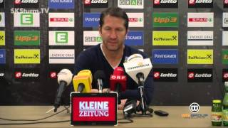 Press concerence before FK Austria Wien (18th round of the Austrian Bundesliga 2015/16)