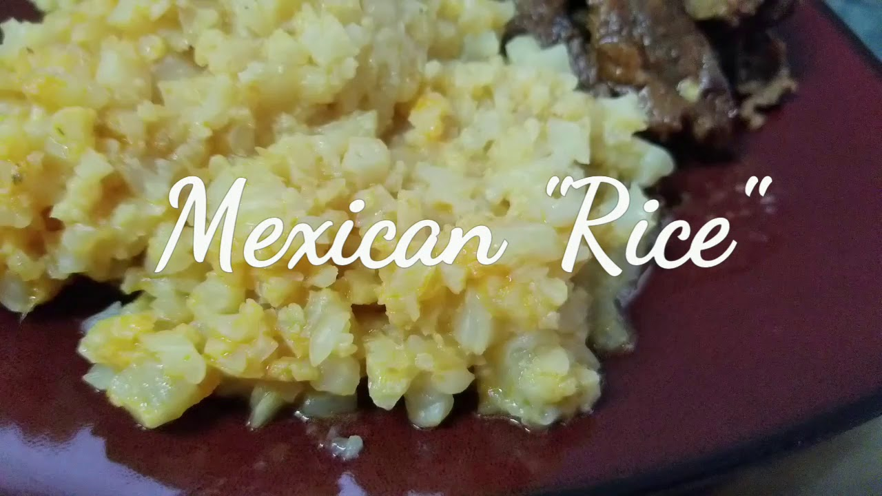 Keto Mexican Rice Ketogenic Diet Youtube