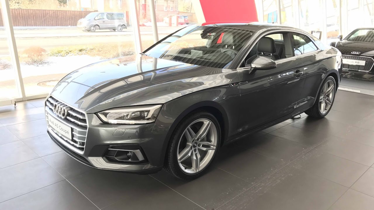 audi a5 coupe s line model 2017 f5 grey colour. Black Bedroom Furniture Sets. Home Design Ideas