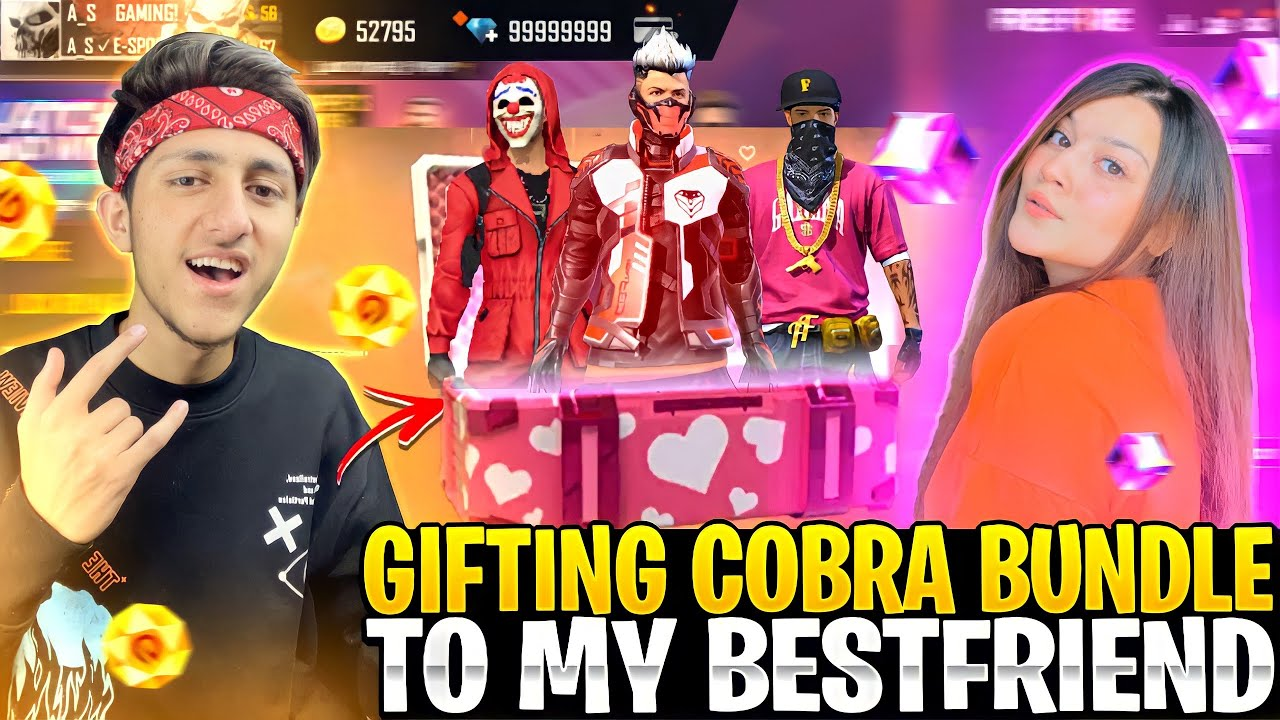 Gifting 10,000 Diamond & Cobra Bundle To My Cute Friend 😍 Noob To Pro Collection - Garena Free Fire