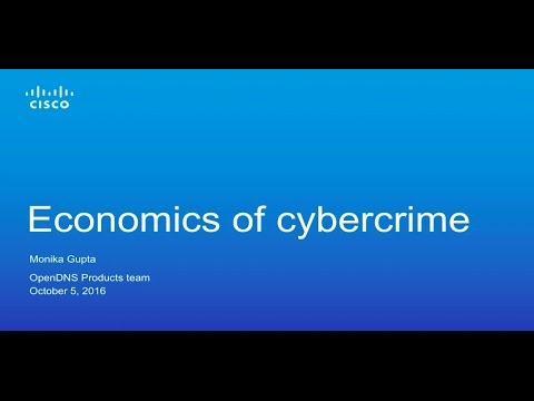Economics of Cybercrime