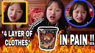 "Wore *4 CLOTHES* eating 1,000,000x WORLD SPICIEST ""GHOST PEPPER""  (TEAR UP BADLY!!!)"