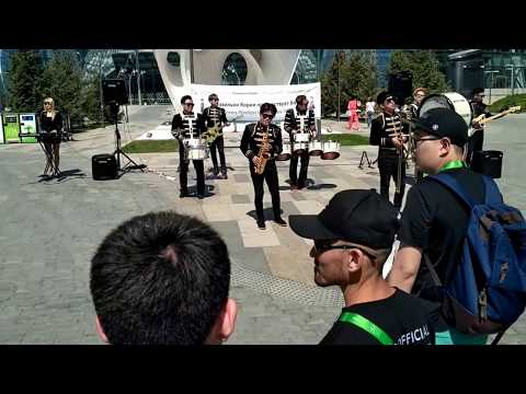 South Korea brass live band on Expo 2017 in Kazakhstan Astana - Let it be The Beatles cover jazz