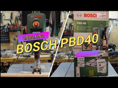 Unboxing prova trapano a colonna Bosch PBD40 Unpacking and test drill press pillar drill Bosch PBD40