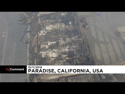 Incendi in California: le impressionanti immagini del drone