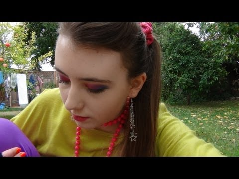 Halloween Costume: 80's Inspired Makeup And Costume