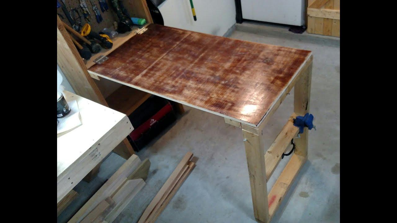 Fold Down Garage Workbench Plans