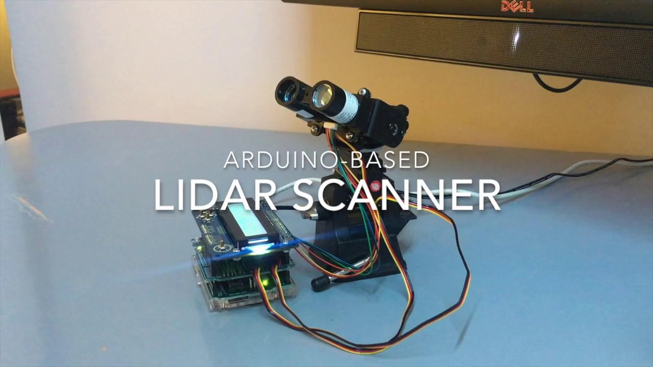 Arduino based lidar scanner youtube
