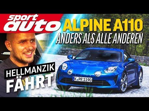 Alpine A110: 333 kg leichter als ein Porsche Cayman | Hellmanzik fährt | sport auto