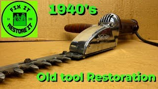 Old vintage Hedge trimmer restoration fix it restore it fix it restore it