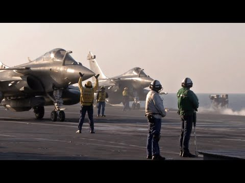 EXCLUSIVE - On board French aircraft carrier the Charles de Gaulle