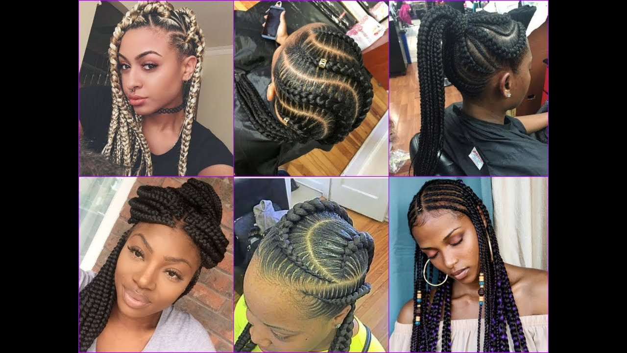 2018 Cool Braids Hairstyle Ideas for African American Womens - YouTube