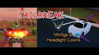 Roblox Jailbreak Update! Wings + Headlights + UFO Review!
