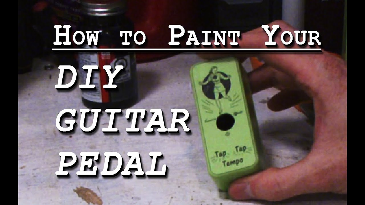 How To Paint Your Diy Guitar Pedal Youtube Power Supply Circuit Board For Effect Pedals And Stomp