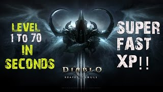 Diablo 3 FASTEST XP LEVEL 1 TO 70 IN SECONDS! PS4 Gameplay Hacked WIZARD!