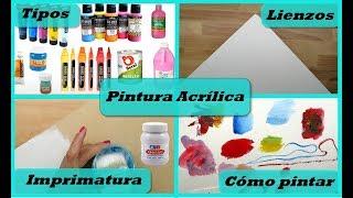 Pintura Acrílica - Todo lo que necesitas saber | Materiales para pintar con acrílicos