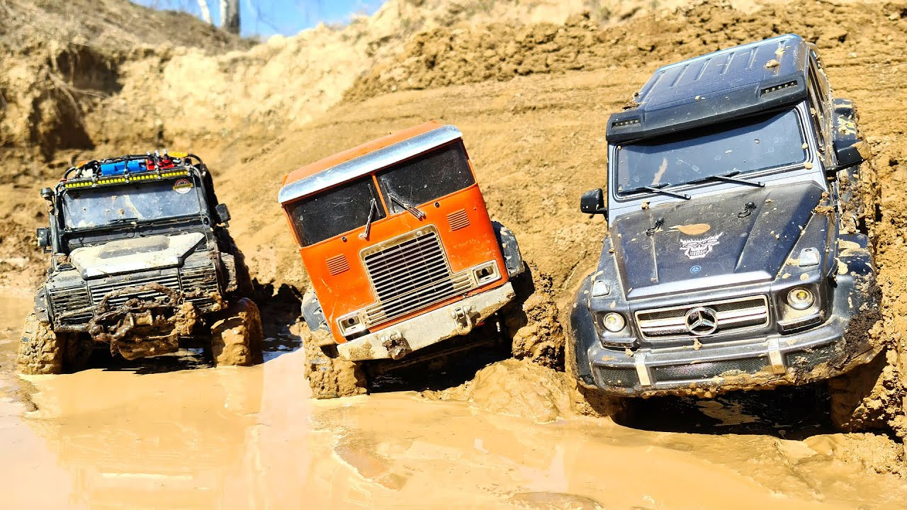 RC Cars Water and MUD Racing Trucks Globe Liner 6x6, Mercedes G63, Land Rover — Wilimovich