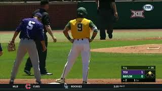 TCU vs Baylor Baseball Highlights - Apr. 22