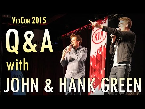 John and Hank Green's Nerdfighter Q&A from VidCon 2015