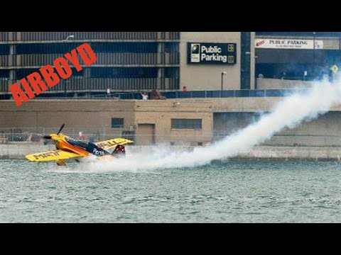Matt Hall Skims Water During Red Bull Air Race Qualifying In Windsor (2010)