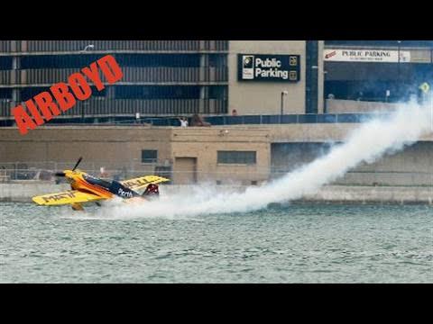 Matt Hall Skims Water -  Red Bull Air Race Qualifying (2010)