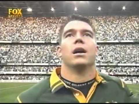 South Africa Australia Anthems Tri Nations 2000