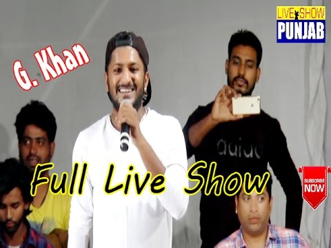 G Khan Best Live Performance of the year 2016
